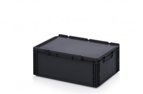 Kaste ar vāku, 600 x 400 x 235 mm, ESD