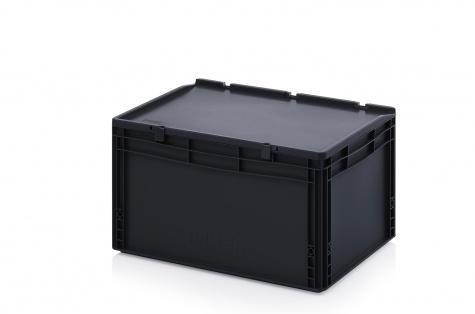 Kaste ar vāku, 600 x 400 x 335 mm, ESD