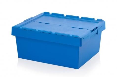Uzglabāšanas kaste ar vāku, 800 x 600 x 340 mm
