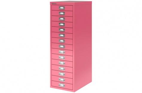 Sahtlikapp Bisley MultiDrawer 39, 15 sahtlit, roosa