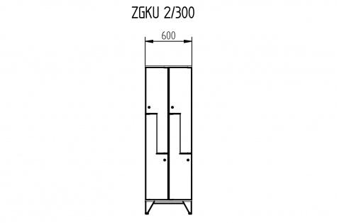 Garderoobikapp ZGKU, Z-uksega, 4ukseline, uks 300 mm