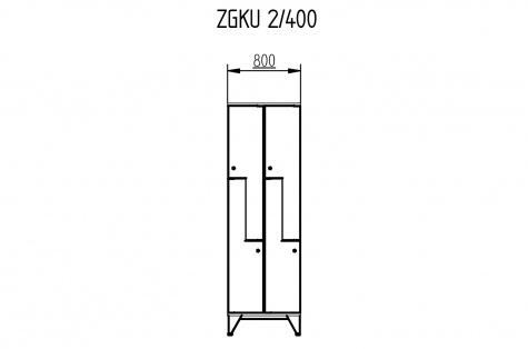 Garderoobikapp ZGKU, Z-uksega, 4ukseline, uks 400 mm