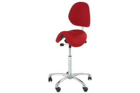 Sedlu krēsls Care Line Dalton, balts
