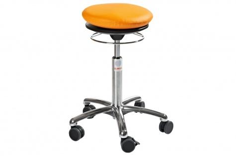 Taburet Pilates Air Alu50, oranž kunstnahk