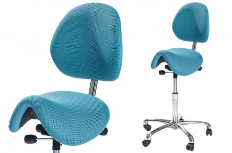 Sedlu krēsls Pinto ar atzveltni, zils