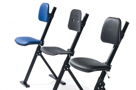 Krēsls - atbalsts Sit Stand, zila auduma