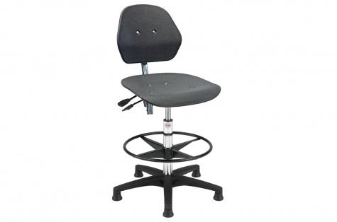 Darba krēsls Solid Econ, augstais, ar kāju balstu