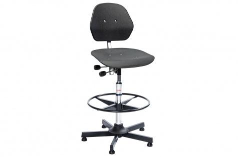 Darba krēsls Solid, augstais modelis ar balsta gredzenu