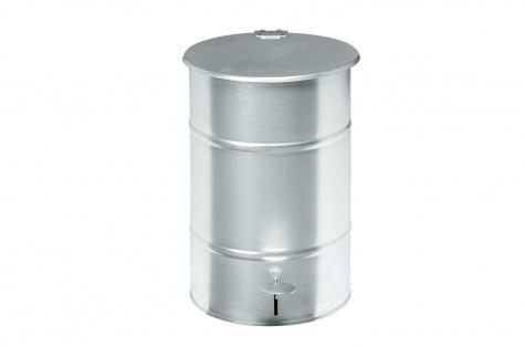 Atkritumu urna ar pedāli, 30L, galvanizēts tērauds