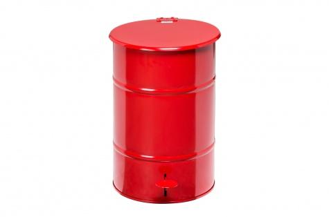 Atkritumu urna ar pedāli, 30L, sarkana
