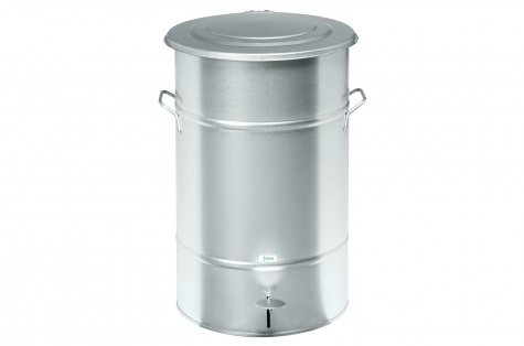 Atkritumu urna ar pedāli, 70L, galvanizēts tērauds