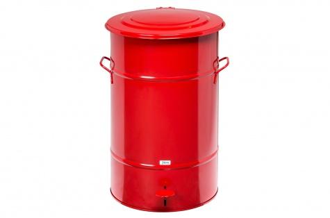 Atkritumu urna ar pedāli, 70L, sarkana