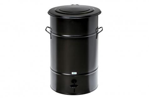 Atkritumu urna ar pedāli, 70L, melna