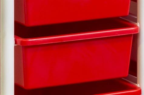 Säilituskast, punane