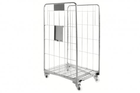 Тележка - контейнер с 2 стенками - сетками, 700x800x1570