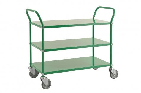 Riiulkäru, 1080 x 480 x 940, roheline, piduriga rattad