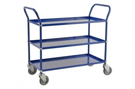 Riiulkäru, 1080 x 480 x 940, sinine, piduriga rattad