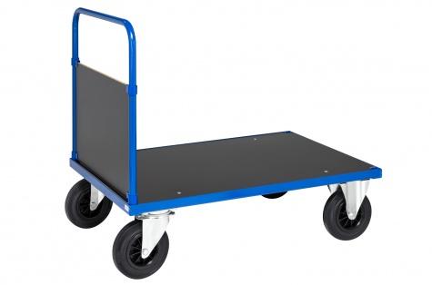 Lielas noslodzes (500 kg) platformas rati ar rokturi, 1200x800 mm
