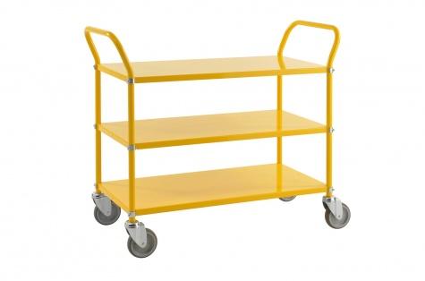 Riiulkäru, 1080 x 480 x 940, kollane, piduriga rattad