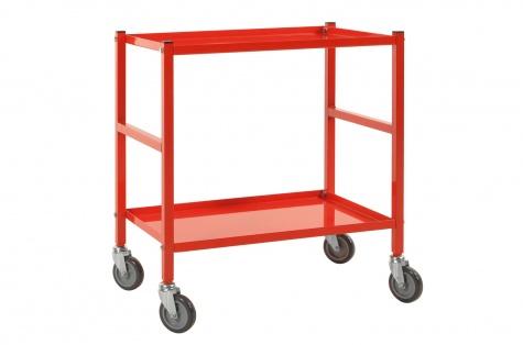 Riiulkäru, 690 x 430 x 750, punane,  piduriga rattad