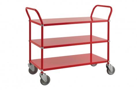 Riiulkäru, 1080 x 480 x 940, punane, piduriga rattad