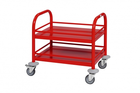 Mini riiulkäru, 530 x 375 x 550, punane