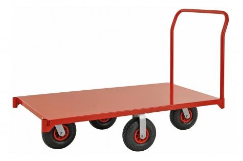 Lielas noslodzes platformas ratiņi ar rokturi, 1400x760, slodze 1200 kg