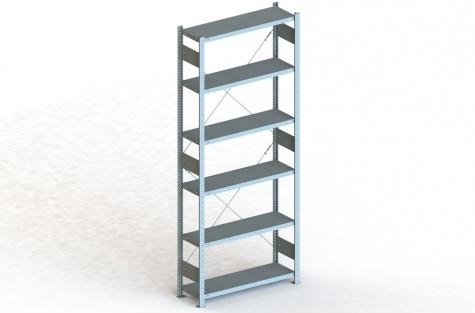 Tsingitud riiul Clip S3, 300 x 1000 x 2500 mm, põhisektsioon
