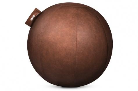 Мяч-сиденье Pila, коричневая кожа, диаметр 65 см