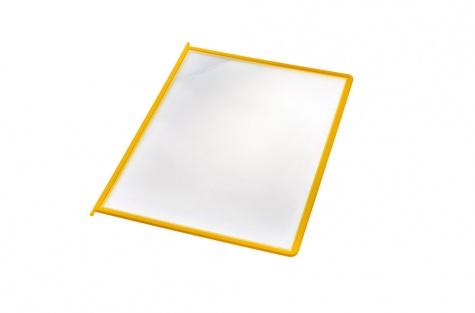 Пластиковые папки-карманы, желтые