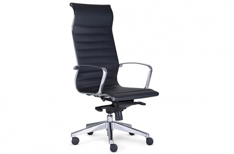 Biroja krēsls Sitio Deluxe, melns, ar augstu atzveltni