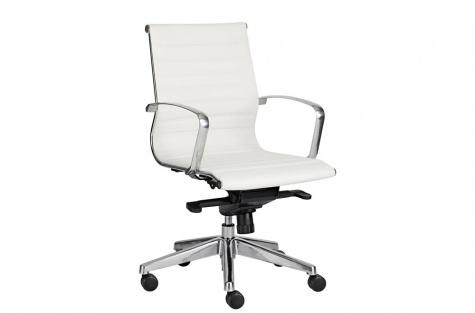 Biroja krēsls Sitio Deluxe, balts, ar zemu atzveltni