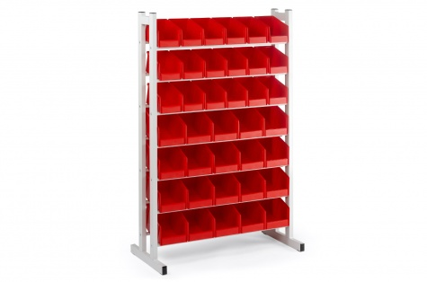 Komplekts: statīvs BR-2530 + lādītes, sarkanas