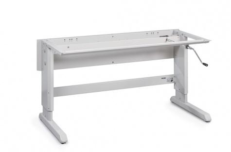 Concept töölaua raam, käsivintsiga, 1500 x 600 mm