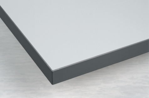 Lauaplaat 1500 x 750 mm, PVC/plastikkant