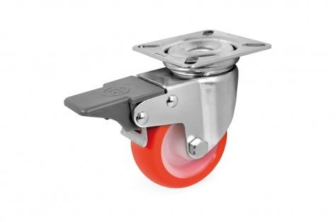 S36 Plaatkinnitusega pöörduv, piduriga ratas, Ø 40x18 mm