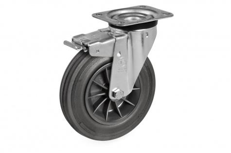S52 Plaatkinnitusega, pöörduv, piduriga ratas, Ø 100 x 30 mm