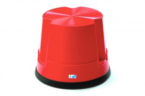 Plastmasas pakāpšanās soliņš, sarkans
