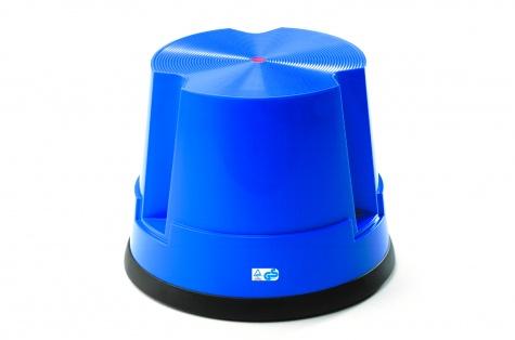 Plastmasas pakāpšanās soliņš, zils