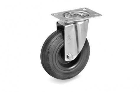 S52 ar plāksnes stiprinājumu, grozāms ritenis, Ø 100x30 mm