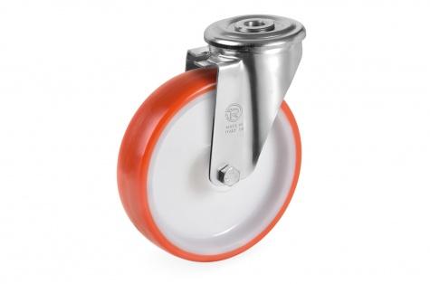 S60 Поворотное колесо с винтовым креплением, диаметр 125 x 35 мм