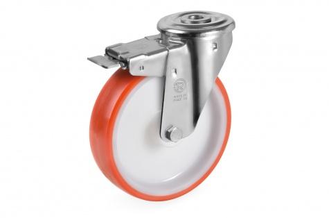 S60 Grozāms ritenis ar skrūves stiprinājumu un bremzi, Ø  80 x 30 mm