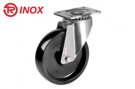 S67 Plaatkinnitusega pöörduv ratas, Ø 100x35 mm, kuumakindel, roostevaba