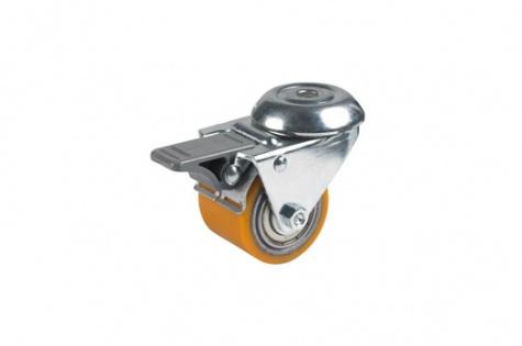 S75 Poltkinnitusega, pöörduv, piduriga ratas, Ø 35 x 27 mm