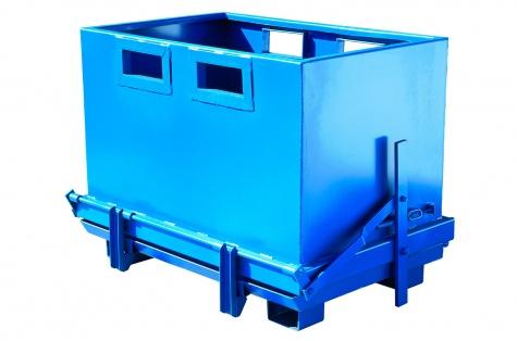 Avatava põhjaga konteiner, 1800 l