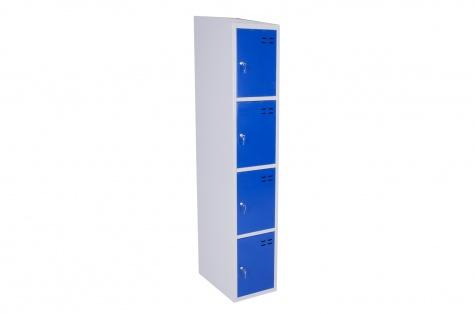 Nodalījumu skapītis, 4 durtiņas, zils