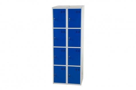 Nodalījumu skapītis, 8 durtiņas, zils