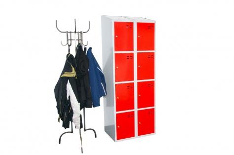Nodalījumu skapītis, 8 durtiņas, sarkans