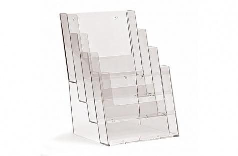 Daudzstāvu galda stends 4C160, A5 formātam, ar 4 nodalījumiem