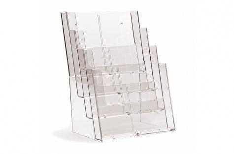Daudzstāvu galda stends 4C230, A4 formātam ar 4 nodalījumiem